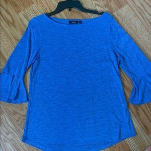 Apt. 9 Blue Flutter Sleeve Top
